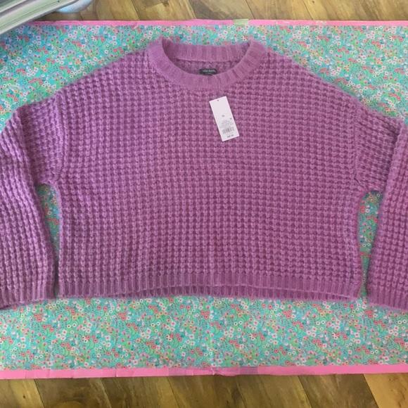 NWT Purple Crop sweater